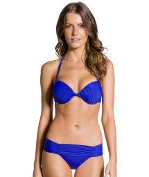 Bikini balconnet paddé plissé bleu foncé - PLISSADO COBALT