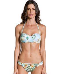 Floral bandeau bikini with underwire - PRAIA DAS ACACIAS