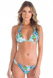 Bikini top triangulo bufanda estampa azul - RECIFE DE CORAL