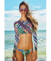 Multicolour long sleeve crop top bikini - REFUGIO