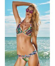 Multicolour Brazilian bikini, pearly detail - RIBEIRINHA