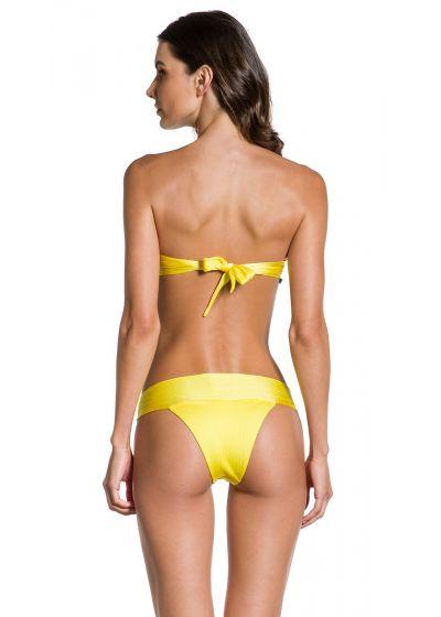 Textured iridescent yellow Brazilian bikini - SOL TEXTURA