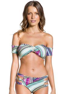 Bandeau bikini with sleeves and graphic print - VILA DO PORTO