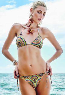 Brasiliansk bikini med psykedelisk mønster - ZUMA BEACH