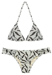 Beige tiger-striped Brazilian bikini - LUCY TIGRINHOS OF WHITE