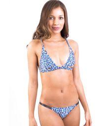 Racer back, dual fabric scarf triangle bikini - MARESIAS BUZIOS