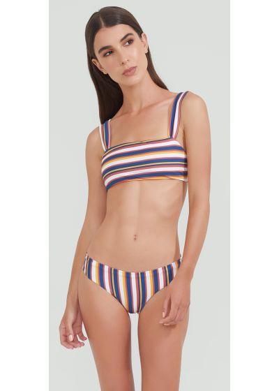 Bra bikini top in colorful stripes - BAND LAND STRIPES