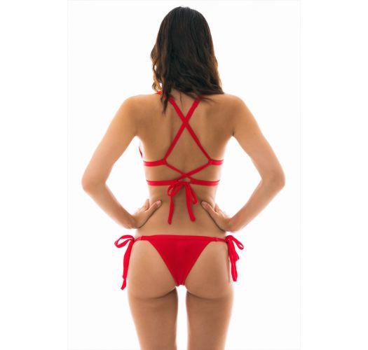 BBS X PIPOCA - red triangle tied bikini