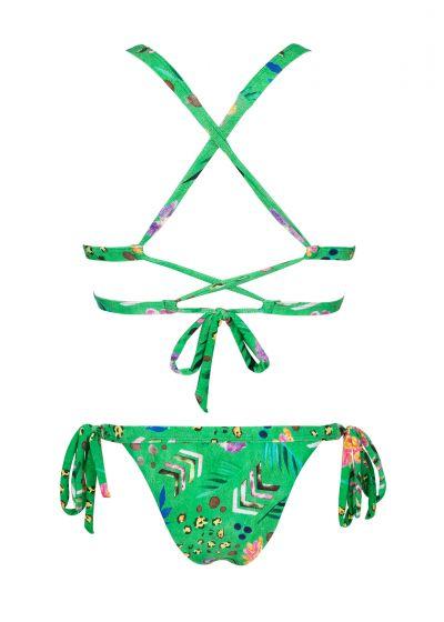 Tryckt grön trekants- bikini - SAFARI TRI LACINHO