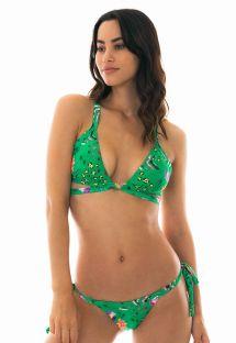 Bikini triangle vert à motifs - SAFARI TRI LACINHO