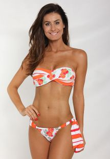 Bikini bandeau torsadé, bas typique brésilien - GUARANA
