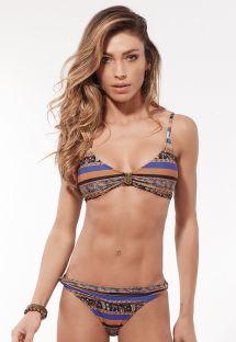 Ethno-Bikini im Sport-BH-Stil mit Accessoire - AMBRA NOZINHO