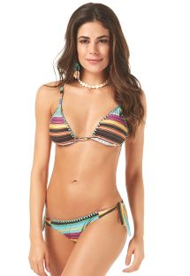Triangle bikini with multicolored stripes - COLORIDO LISTRADINHO