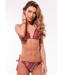 Burgundy cashmere scrunch bikini - MARRAKESH RIPPLE