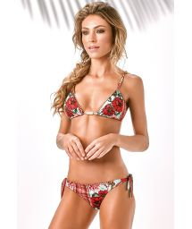 Floral Brazilian bikini edges decorated with beads - MODELI BORDADO