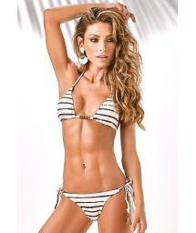 Striped textured Brazilian bikini - RIO BRANCO