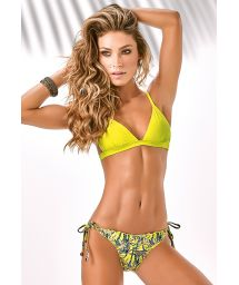 Yellow Brazilian scrunch bikini, fixed triangle - TIJUCA