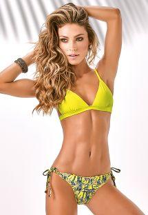 Rynkad gul bikini, triangel övredel - TIJUCA