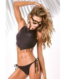 Black crop top bikini with shells - X-FIT BUZIOS
