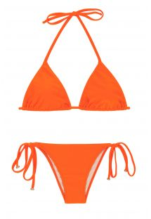 Tangerine-orange brasiliansk bikini - LACINHO KING