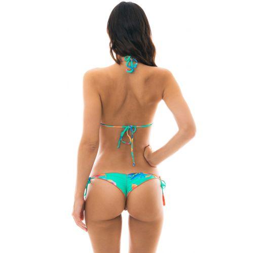Bikini con taparrabos azul pálido - ACQUA FLORA MICRO
