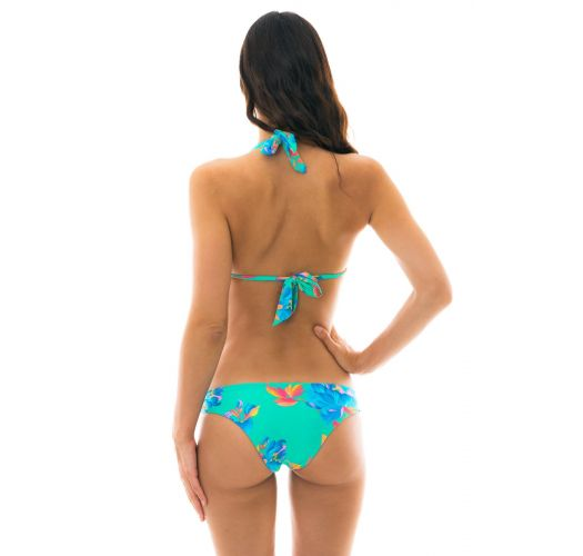 Floraler türkiser Neckholder-Bikini - ACQUA FLORA REGULAVEL