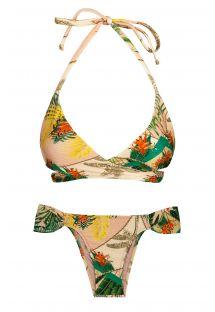 BBS X RIO DE SOL -  Plant print wrap bra bikini - ALPINIA TRANSPASSADO