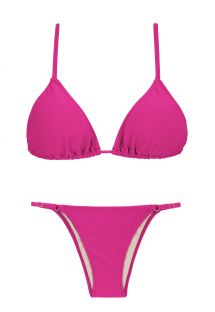 Pink fuchsia triangle bikini with side-adjustable bottom - AMARANTO ARG FIXO