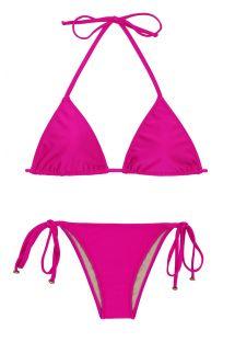 Pink fuchsia triangle bikini - AMARANTO LACINHO