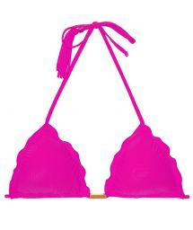 Fuchsiarosa trekants-bikinibh, tofsar - SOUTIEN AMBRA FRUFRU ROSA CHOQUE