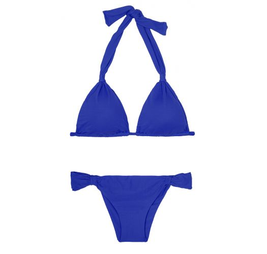 Deep blue triangle scarf bikini, fixed bottom - AMBRA MEL PLANETARIO