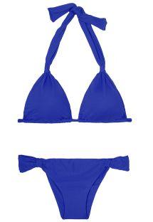 Sabit altlı lacivert eşarp üçgen bikini - AMBRA MEL PLANETARIO