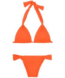 Mandarin orange sliding Brazilian bikini - AMBRA MEL SOMBRERO