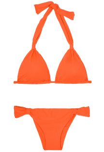 マンダリンオレンジ色のスライディングブラジリアンビキニ - AMBRA MEL SOMBRERO