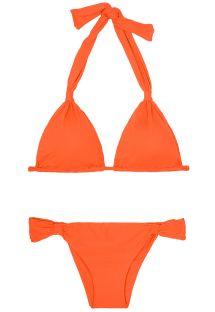 Verschuifbare mandarijnkleurige Braziliaanse bikini - AMBRA MEL SOMBRERO