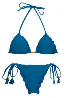 Bikini scrunch azul con borlas - AMBRA TURQUIA FRUFRU
