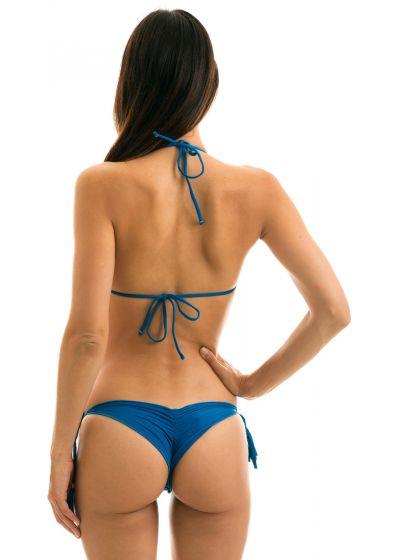 Bikini brésilien scrunch bleu bords ondulés - AMBRA TURQUIA FRUFRU