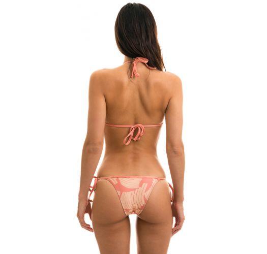Brazilian side-tie bikini in rose print - BANANA ROSE LACINHO