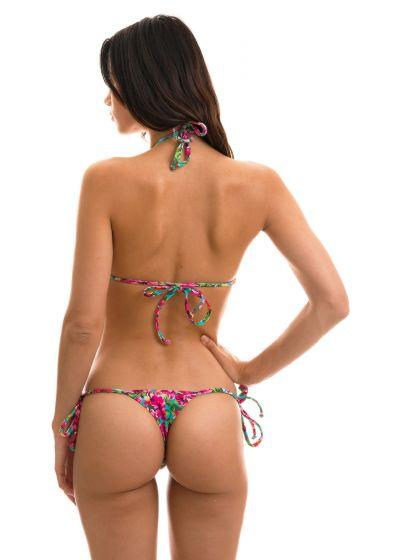 Colorful floral print bikini - BEACH FLOWER MICRO