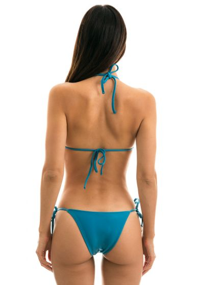 Blue side-tie Brazilian bikini - BEACH NILO ROLOTE