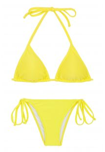 Lemon yellow triangle top bikini - BEACH STREGA ROLOTE