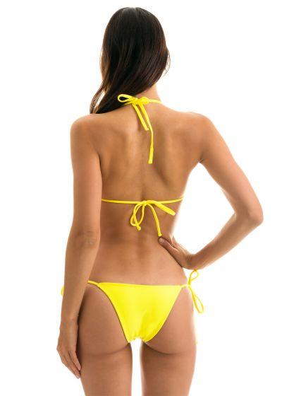 Maillot de bain brésilien jaune citron à nouer - BEACH STREGA ROLOTE