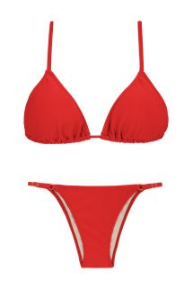 Red bikini with side-adjustable bottom - BEIJO ARG FIXO