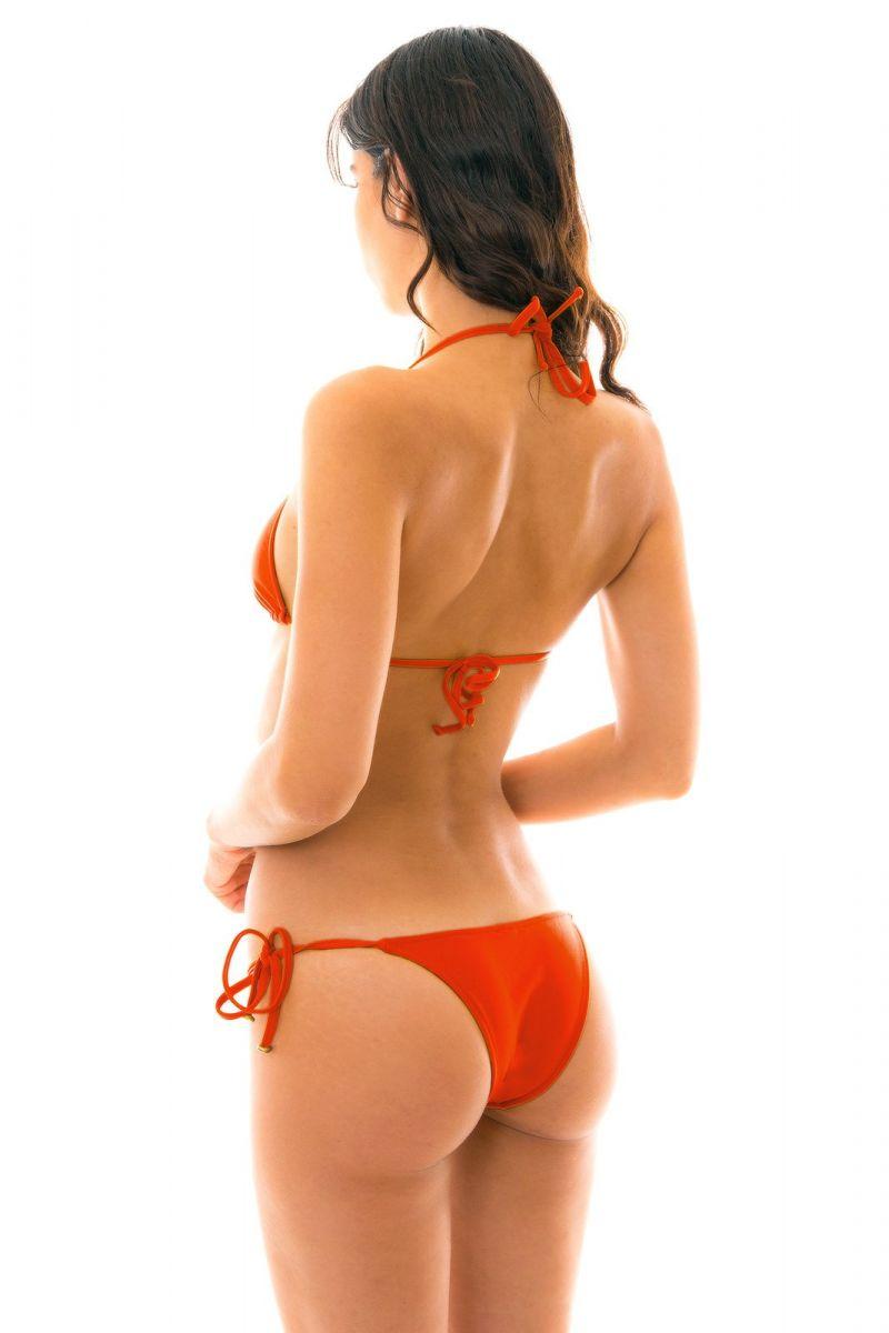 Högröd brasiliansk bikini med accessoarer - BEIJO LACINHO