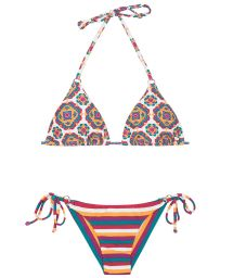 Retro and striped Brazilian bikini - BEIRA RIO CHEEKY