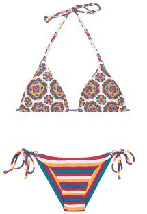Retro and striped Brazilian bikini - BEIRA RIO CHEEKY