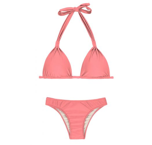 Peach rose halter bikini - BELLA CORTINAO