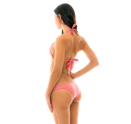 Bikini halter rosa pesca - BELLA CORTINAO