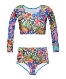 High-waisted tropical print swimsuit - BIGUA TROPICAL