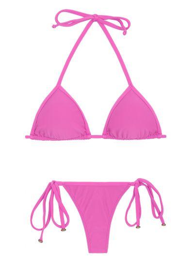Pink smyckad string bikini - BIKINI TRI MICRO